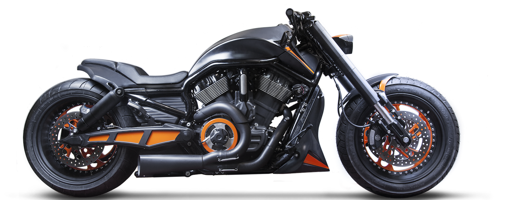 Harley Davidson VROD Black Orange